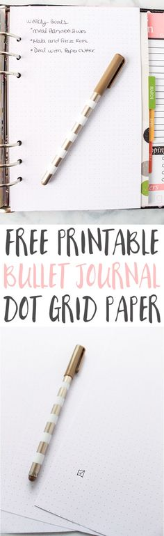 This free bullet journal paper printable is a great bullet journal idea to help you get started with bullet journaling. Make your own layouts with this free dot grid paper printable. Bullet Journal Mise En Page, Bullet Journal Design, Bullet Journal Dot Grid, Bullet Journal Paper, How To Bullet Journal, Bullet Journal Printables, Bullet Journal Inspiration, Journal Ideas, Bullet Journals