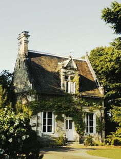 Vine covered fairy-tale cottage in Provence, France.