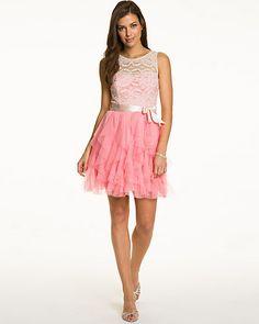 Illusion Lace Mesh Party Dress