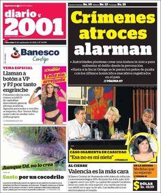 #Portadas #Nacionales #PrimeraPagina #Titulares #Noticias #DesayunoInformativo @2001OnLine