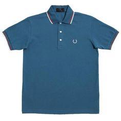 Slim Fit Textured, Polo Homme, Bleu (Light Blue 45), SmallNew Look