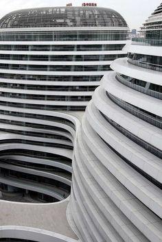 Zaha Hadid's Galaxy Soho complex in Beijing, China.