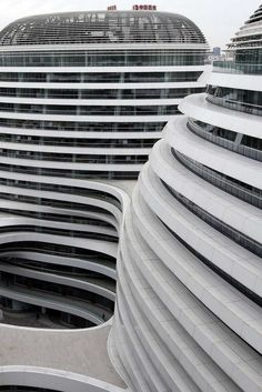 Zaha Hadid's Galaxy Soho complex in Beijing, China.