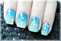 SNOWFLAKE christmas #nail #nails #nailart