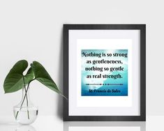 St. Francis de Sales Quote Print Nothing is so strong as   Etsy Saints, Sales Quotes, Catholic Art, Color Calibration, Keep In Mind, Quote Prints, Printing Process, Strong, Messages