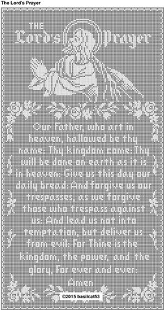 The Lord's Prayer Thread Filet Crochet Wall Hanging by basilcat53