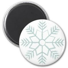 Snowflake Fridge Magnets