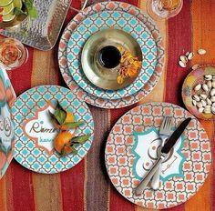 Ramadan Kareem Dinner and Dessert Melamine Plates by OnceUponAEid