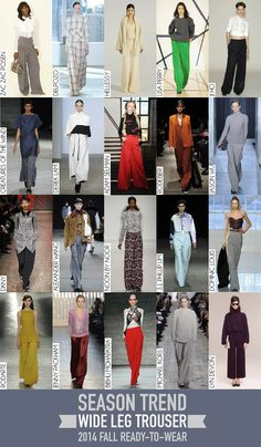 Wide Leg Trouser Trend 2014 Fall RTW 2014 Trends, Delpozo, Derek Lam, Wide Leg Trousers, Fall, Pants, How To Wear, Collection, Fashion