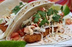 Southwest Fish Tacos :: Recipe on PocketChangeGourmet.com