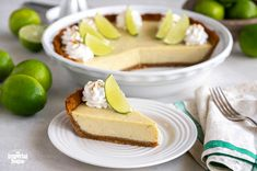 Key Lime Pie is a classically cool dessert. It issweet and tart, and can be served year-round. Chef Eddy's Key Lime Pie starts with a graham cracker crust underneath a creamy, pucker-worthy lime filling. It istoppedit off with a fluffy meringue, creating a perfect balance with the tangy creamy filling underneath. Lime Desserts, Summer Desserts, No Bake Desserts, Delicious Desserts, Graham Cracker Crust, Graham Crackers, Key Lime Filling, Best Key Lime Pie, Food Processor Recipes