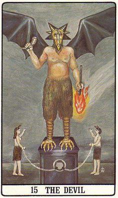 XV. The Devil - Golden Dawn by Israel Regardie, Robert Wang (1977)