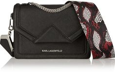 Karl Lagerfeld K/Rock mini textured-leather shoulder bag