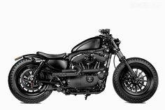 Shaw Speed X Rough Crafts Harley 48 custom motorcycle.