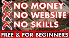 Make Money Online For Free, No Skills, No Website ( 1 Month Challenge! ) Make Money Blogging, Make Money From Home, Make Money Online, How To Make Money, How To Become, Online Marketing Strategies, Affiliate Marketing, Impossible Dream, 1 Month