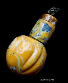 Yellow Antique Venetian Scent Bottle