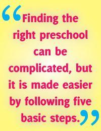 Choosing the Right Preschool Program