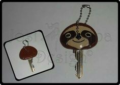 Sloth Key Cover - polymer clay