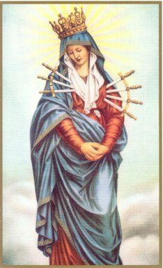 Our Lady of Sorrows; Sorrowful Mother: The rosary of the seven sorrows and 7 special graces