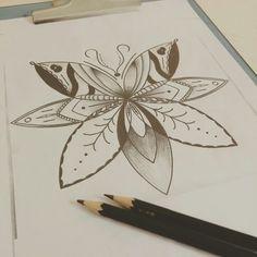 Mandala Borboleta Disponível para tatuar #tattoo #tatuagem #mandala #borboleta #mandalla #butterfly #blackwork #ink #lines