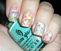 Watercolor nails! =)