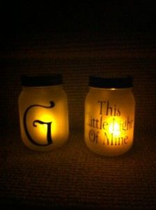 More Mason Jar Luminaries!