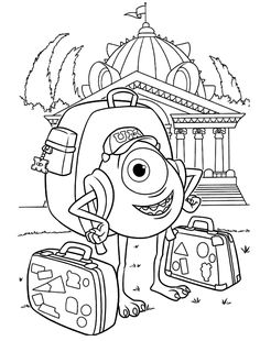 Monster University Coloring Page Lovely Monsters University Coloring Pages Free Printable Coloring Cool Coloring Pages, Disney Coloring Pages, Coloring Pages To Print, Printable Coloring Pages, Adult Coloring Pages, Coloring Sheets, Coloring Pages For Kids, Coloring Books, Kids Coloring