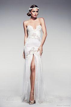 pallas couture bridal 2014 fleur blanche corette strapless wedding dress