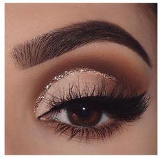 Brown Makeup Looks, Makeup Eye Looks, Eye Makeup Steps, Eye Makeup Art, Makeup For Brown Eyes, Skin Makeup, Eyeshadow Makeup, Liquid Eyeshadow, Brown Eyeshadow Looks