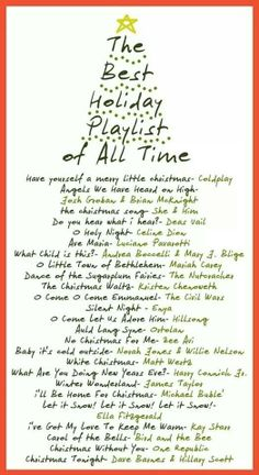Great Christmas Playlist :) so need to make this playlist into a cd!