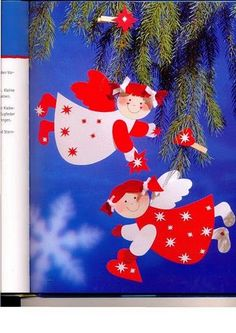 Christophorus - Weihnachten Bastelspass für kleine hande - Muscaria Amanita - Picasa Webalbumok Christmas Stockings, Christmas Ornaments, Winter, Decoration, Garland, December, Scrap, Paper Crafts, Holiday Decor