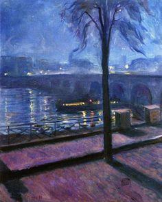 Night in Saint-Cloud Edvard Munch - 1890