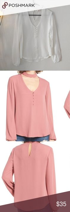 Sweet symphony v-neck blouse from Nordstrom Brand new W/o tag wayf Tops Tees - Long Sleeve