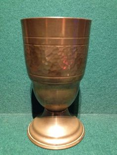 African Art Ltd Ndola Copper Beaker / Cup / Chalice Made In Zambia - 5.25  Tall