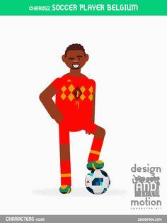 CHAR052_SoccerPlayerBelgium. Part of D&M Character Kit.