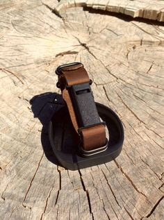 Leather Fitbit Flex Band with Minimalist Case for Men or Women - Version 2