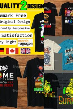 I will make high quality merch by amazon designs, #quality, #high, #merch Amazon, How To Make, T Shirt, Design, Supreme T Shirt, Amazons, Tee Shirt, Riding Habit