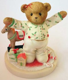 Heidi's Cherished Teddies Gallery: I LOVE CHRISTMAS THIS MUCH! - Abbey Press - 2006 Abbey Press Exclusive Dated Figurine (4005154)