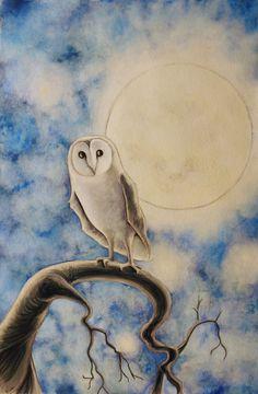 Items similar to Owl Moon Watercolor Illustration, Matted on Etsy Owl Illustration, Watercolor Illustration, Watercolor Art, Watercolor Paintings Of Animals, Owl Moon, Owl Art, Funny Art, Painting Inspiration, Illustrator