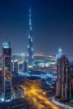 Dubai at night #repin #SkyScraper
