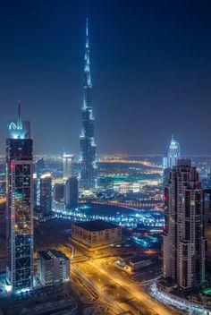 Dubai at night #repin #SkyScraper