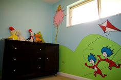 wow...kind of makes me want a baby so I can paint a nursery themed in Dr. Suess books...