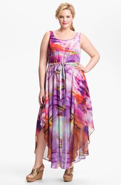 Ivy & Blu for Maggy Boutique Print Maxi Dress (Plus) available at #Nordstrom