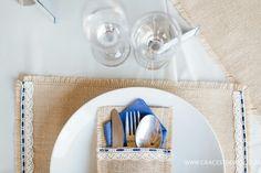Cutlery #wedding #decor #hessian #bride #groom