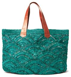 Tulum+Tote,+Aqua+|+Favorite+Finds+|+One+Kings+Lane