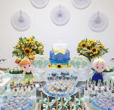 Festa personalizada com tema de Frozen Fever - www.clakeka.blogspot.com