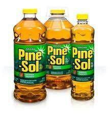 Spray or wipe Pinesol on outside furniture to keep flies away.