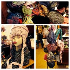 Pinklady crocheted hats @ The Rust Belt Market, Ferndale, Mi
