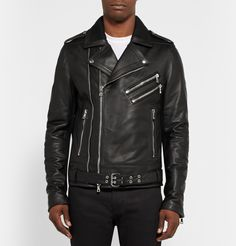 Balmain - Leather Biker Jacket|MR PORTER