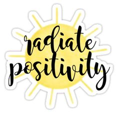 """Radiate Positivity Sunshine"" Stickers by P H Tumblr Stickers, Phone Stickers, Cool Stickers, Printable Stickers, Preppy Stickers, Macbook Stickers, Craft Stickers, Red Bubble Stickers, Aesthetic Stickers"